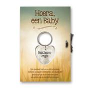 Miko Gelukshart Sleutelhanger Giftcard Hoera, Een baby