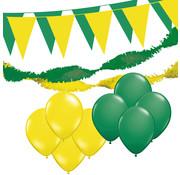 "Joni's Winkel Versiering pakket XL ""Geel-Groen"" - ballonnen / slingers en vlaggenlijnen"