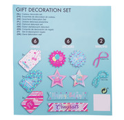 "Joni's Winkel Labels cadeau decoratie set ""Happy bday"""