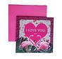 """Valentijnskaart """"Flamingo"""""""