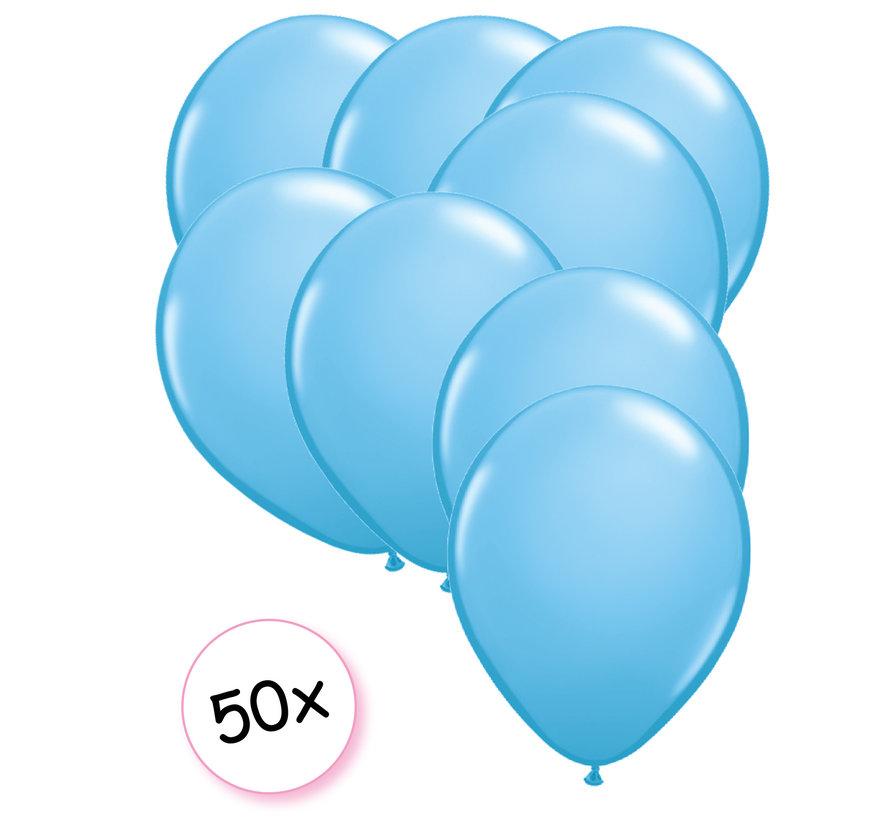 Ballonnen Licht blauw 50 stuks 27 cm