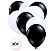 Joni's Winkel Ballonnen Zwart & Wit 30 stuks 27 cm
