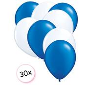 Joni's Winkel Ballonnen Blauw & Wit 30 stuks 27 cm