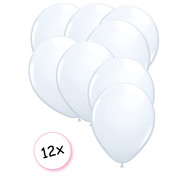 Joni's Winkel Ballonnen Wit 12 stuks 27 cm