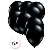 Joni's Winkel Ballonnen Zwart 12 stuks 27 cm
