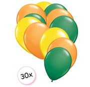 Joni's Winkel Ballonnen Geel, Groen & Oranje 30 stuks 27 cm