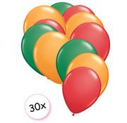 Joni's Winkel Ballonnen Groen, Oranje, Rood 30 stuks 27 cm