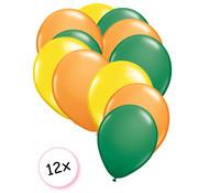 Joni's Winkel Ballonnen Geel, Groen & Oranje 12 stuks 27 cm