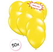 Joni's Winkel Ballonnen Geel 50 stuks 27 cm + Ballon Lijm Plakkers - Plafond Stickers