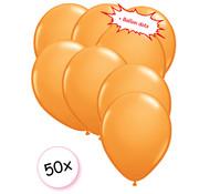 Joni's Winkel Ballonnen Oranje 50 stuks 27 cm + Ballon Lijm Plakkers - Plafond Stickers