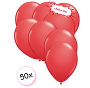 Joni's Winkel Ballonnen Rood 50 stuks 27 cm + Ballon Lijm Plakkers - Plafond Stickers
