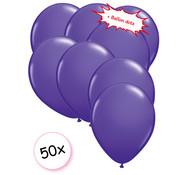 Joni's Winkel Ballonnen Paars 50 stuks 27 cm + Ballon Lijm Plakkers - Plafond Stickers