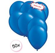 Joni's Winkel Ballonnen Blauw 50 stuks 27 cm + Ballon Lijm Plakkers - Plafond Stickers
