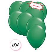 Joni's Winkel Ballonnen Groen 50 stuks 27 cm + Ballon Lijm Plakkers - Plafond Stickers