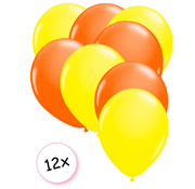Joni's Glow-Shop Ballonnen Neon Geel & Neon Oranje 12 stuks 25 cm