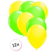 Joni's Glow-Shop Ballonnen Neon Geel & Neon Groen 12 stuks 25 cm