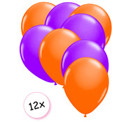 Joni's Glow-Shop Ballonnen Neon Oranje & Neon Paars 12 stuks 25 cm