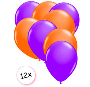 Joni's Glow-Shop Ballonnen Neon Paars & Neon Oranje 12 stuks 25 cm