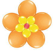 Folat Ballonnen Bloem Oranje/Geel/Rood