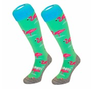 "Hingly Fun-Kousen ""Flamingo Groen"" maat 36-40"