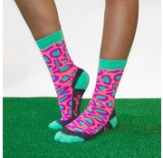 "Hingly Fun-Socks ""Casual Panther Groen"" maat 36-40"