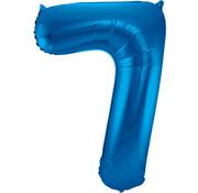Folat Folieballon Cijfer 7 Blauw 34 Inch / 86 Cm