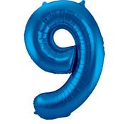 Folat Folieballon Cijfer 9 Blauw 34 Inch / 86 Cm