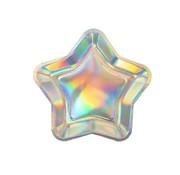 Joni's Winkel Borden Ster holografisch 8 stuks 18 cm