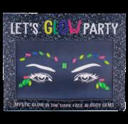 "Joni's Glow-Shop Face Jewels - Glow in the dark ""02"""