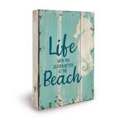 """Miko Houten tekstbord """"Life at the beach"""""""