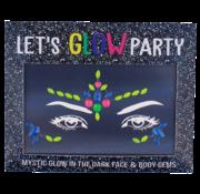 "Joni's Glow-Shop Face Jewels - Glow in the dark ""01"""