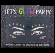 "Joni's Glow-Shop Face Jewels - Glow in the dark ""03"""