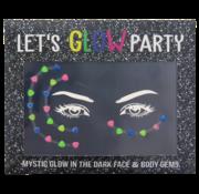 "Joni's Glow-Shop Face Jewels - Glow in the dark ""04"""