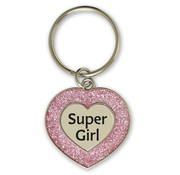 """Miko Glitter Sleutelhanger """"Supergirl"""""""