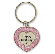 "Miko Glitter Sleutelhanger ""Happy Birthday"""