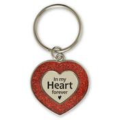 """Miko Glitter Sleutelhanger """"In my Heart"""""""