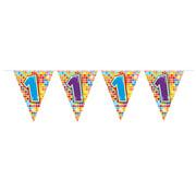 Folat Mini vlaggenlijn Birthday Blocks 1 jaar