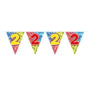 Folat Mini vlaggenlijn Birthday Blocks 2 jaar