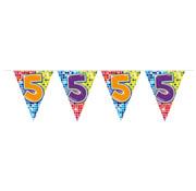 Folat Mini vlaggenlijn Birthday Blocks 5 jaar