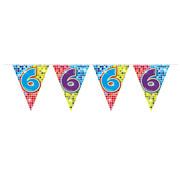 Folat Mini vlaggenlijn Birthday Blocks 6 jaar