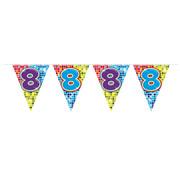 Folat Mini vlaggenlijn Birthday Blocks 8 jaar