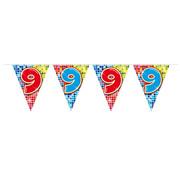 Folat Mini vlaggenlijn Birthday Blocks 9 jaar