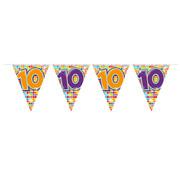 Folat Mini vlaggenlijn Birthday Blocks 10 jaar