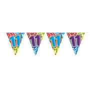 Folat Mini vlaggenlijn Birthday Blocks 11 jaar