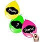 Beschrijfbare Ballonnen Neon Meerkleurig 6 stuks 30 cm
