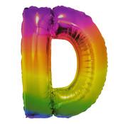 Folat Folieballon Letter D Yummy Gummy Rainbow 34 Inch / 86 Cm