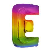 Folat Folieballon Letter E Yummy Gummy Rainbow 34 Inch / 86 Cm