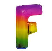 Folat Folieballon Letter F Yummy Gummy Rainbow 34 Inch / 86 Cm