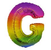 Folat Folieballon Letter G Yummy Gummy Rainbow 34 Inch / 86 Cm
