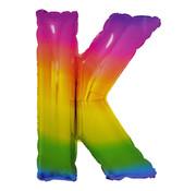 Folat Folieballon Letter K Yummy Gummy Rainbow 34 Inch / 86 Cm